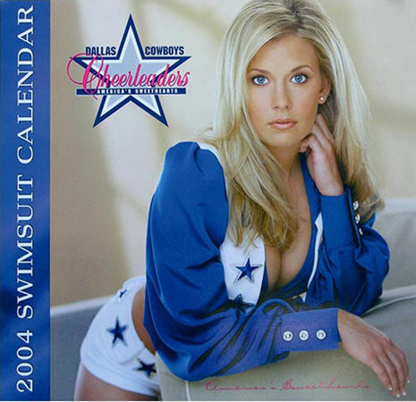 Got the latest hot swimsuit calendar of the dallas cowboys
